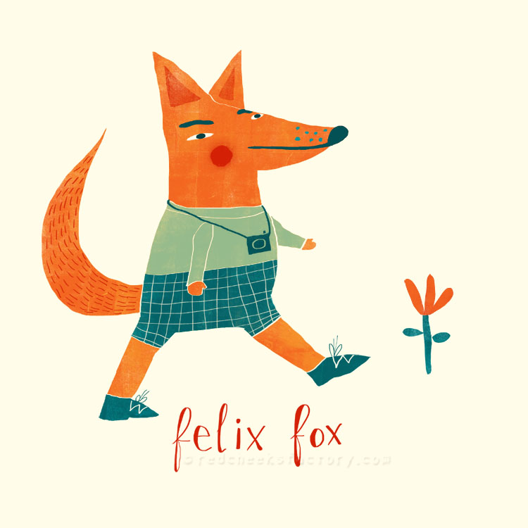 Feliix Fox animal character by Nelleke Verhoeff