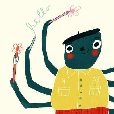Stanley Spider animal character for Childrens picture book