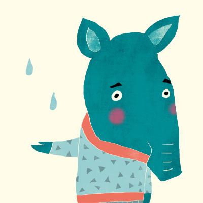Thomas Tapir animal character for Childrens picture book