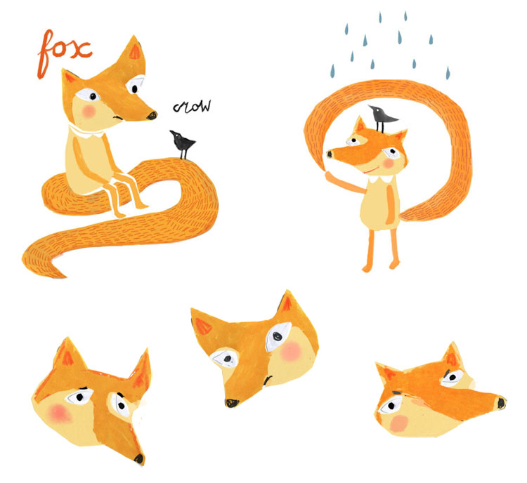 Foxes Characters Childrens book illustration
