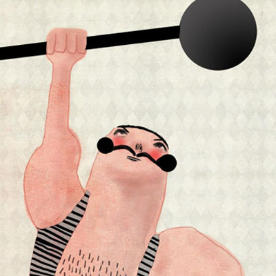 Marvelous machos series of 4 macho illustrations