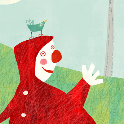 illustration by Nelleke Verhoeff for  little red ridinghood