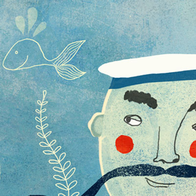 Nautical Illustration Red Cheeks Factory