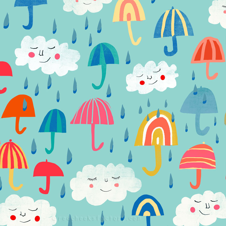 Its Raining Umbrellas pattern - Red Cheeks Factory