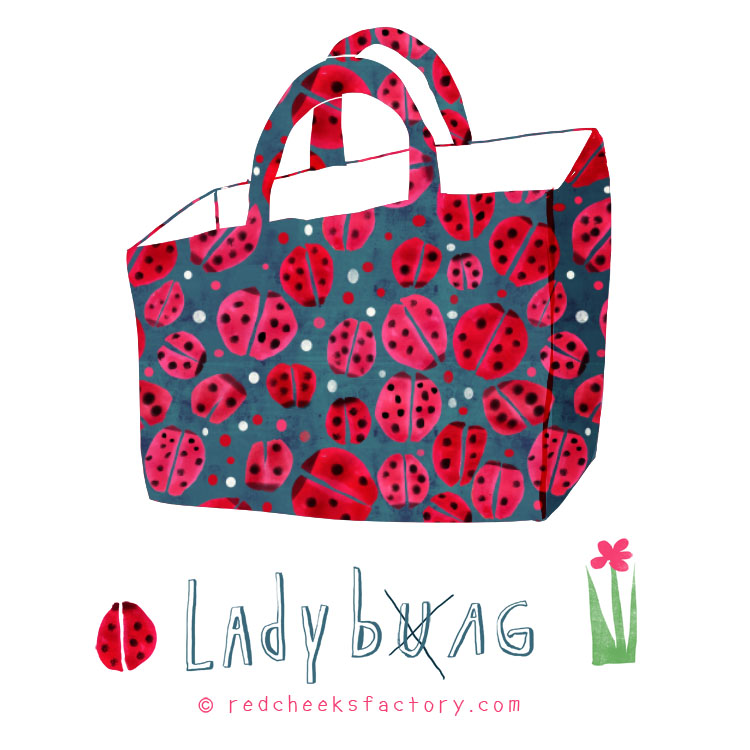Ladybug Bag animal Pattern by Nelleke Verhoeff