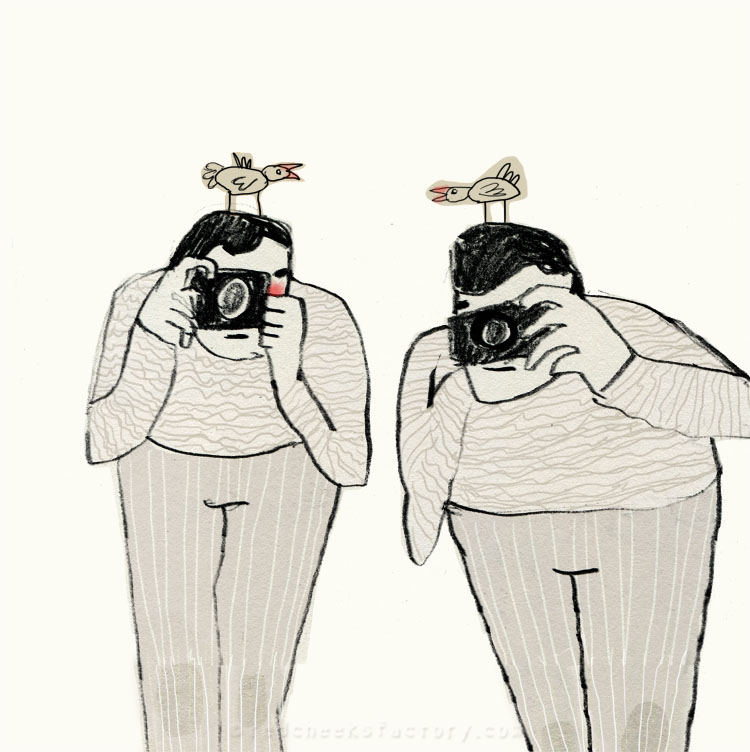 Paparazzi Twins from my sketchbook
