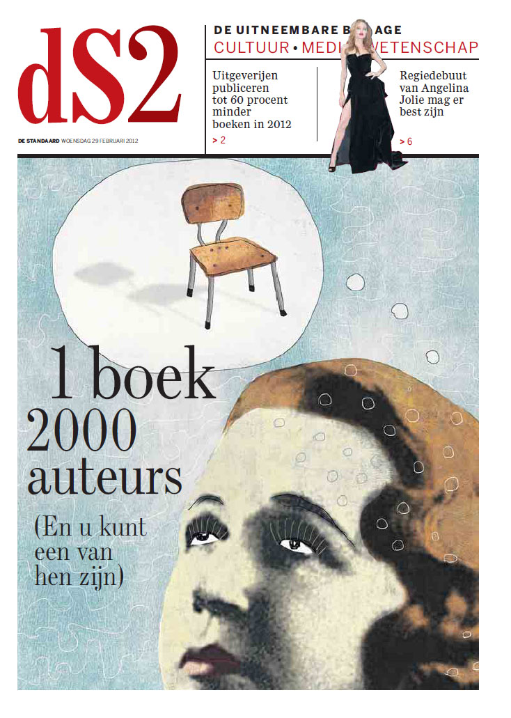 THE REAL FACEBOOK on the frontpage of Newspaper De Standaard