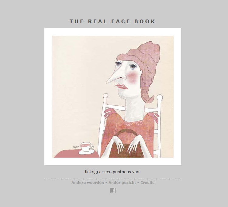 THE REAL FACE BOOK 10 -Illustration from my face a day project