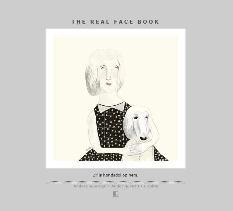 THE REAL FACE BOOK 2 Illustration from my face a day project