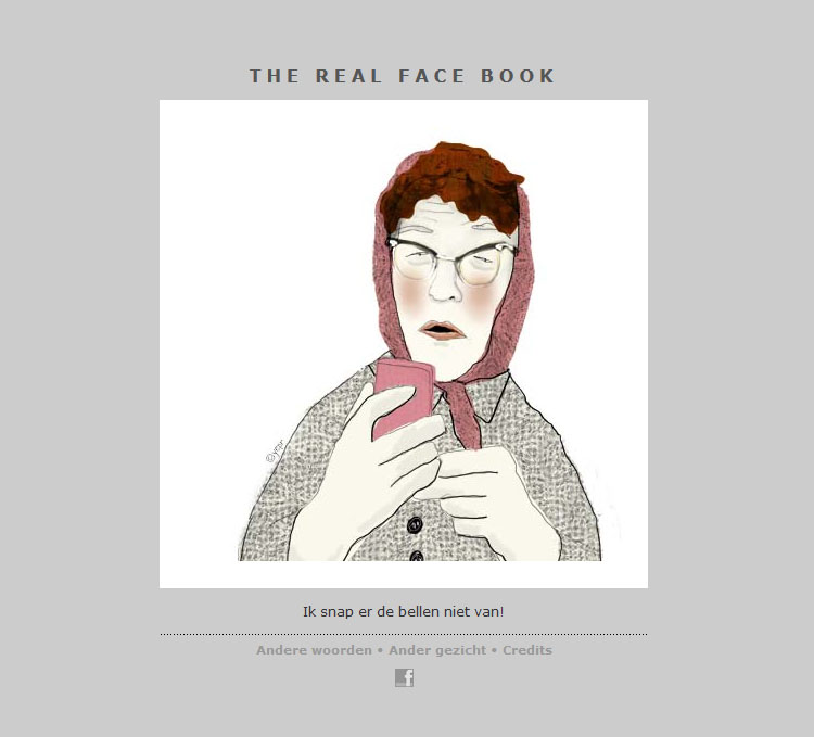 THE REAL FACE BOOK 3 Illustration from my face a day project