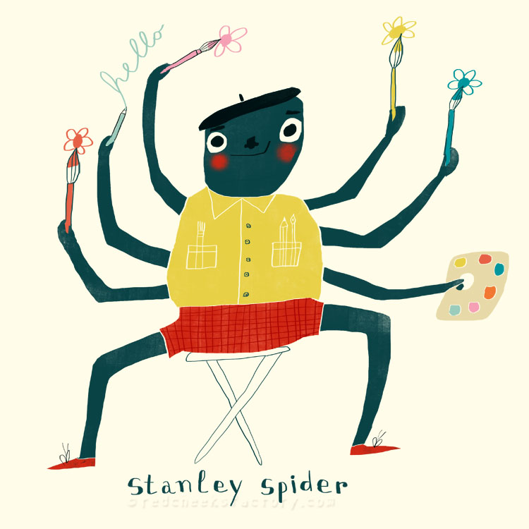 Stanley Spider animal character by Nelleke Verhoeff