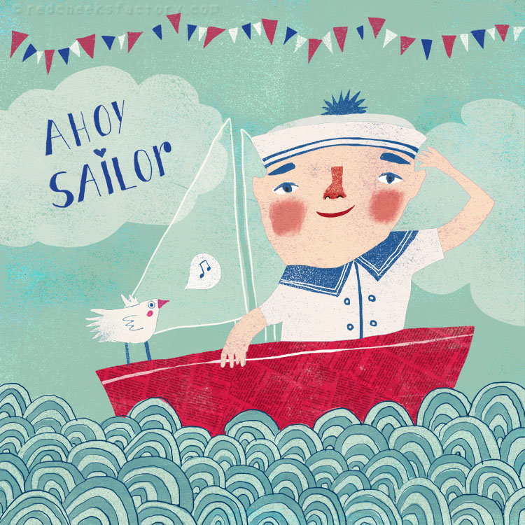 Ahoy Sailor Illustration