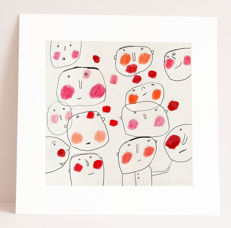 Red Cheeks illustration by Nelleke Verhoeff