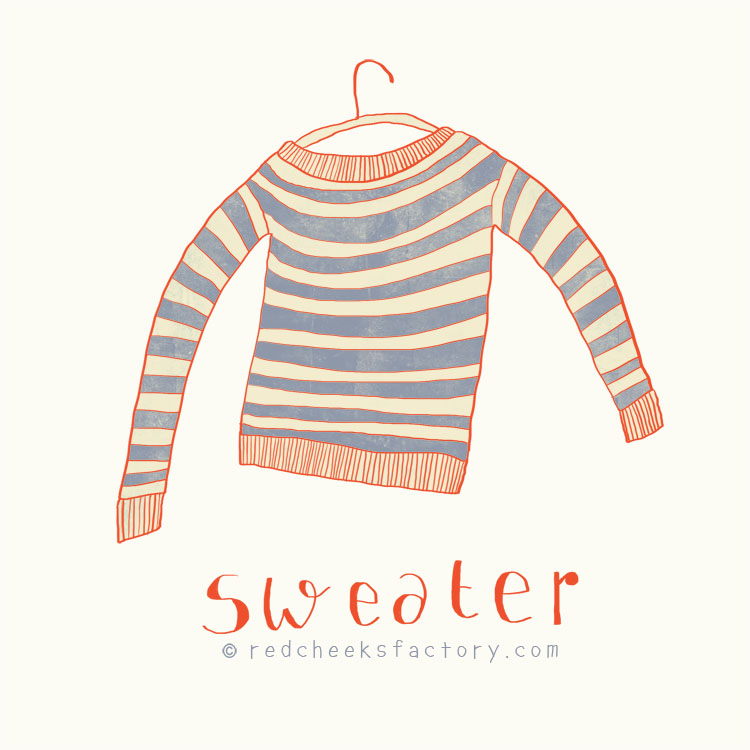 Sweater illustration by Nelleke verhoeff