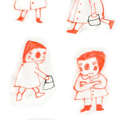 sketches by Nelleke Verhoeff for  little red ridinghood