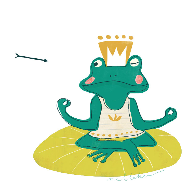 Frog  illustration by Nelleke Verhoeff for the frog princess fairytale