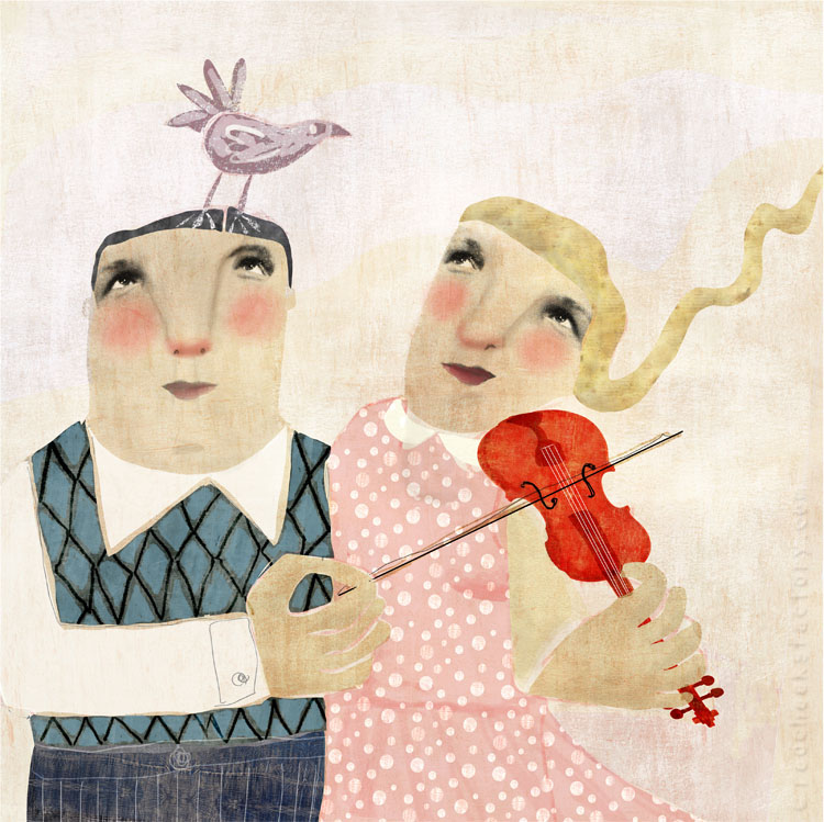 Ode To The Bird illustration giclee print Nelleke Verhoeff Red Cheeks Factory