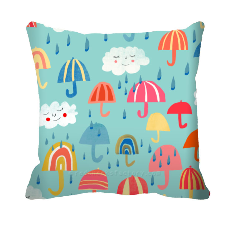 Its Raining Umbrella Cushion Nelleke verhoeff