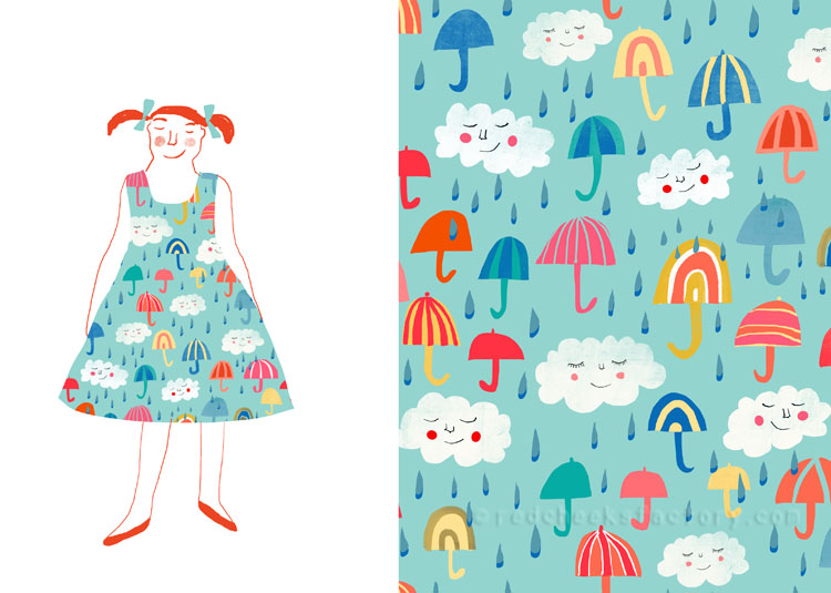 Its Raining Umbrellas pattern Nelleke Verhoeff