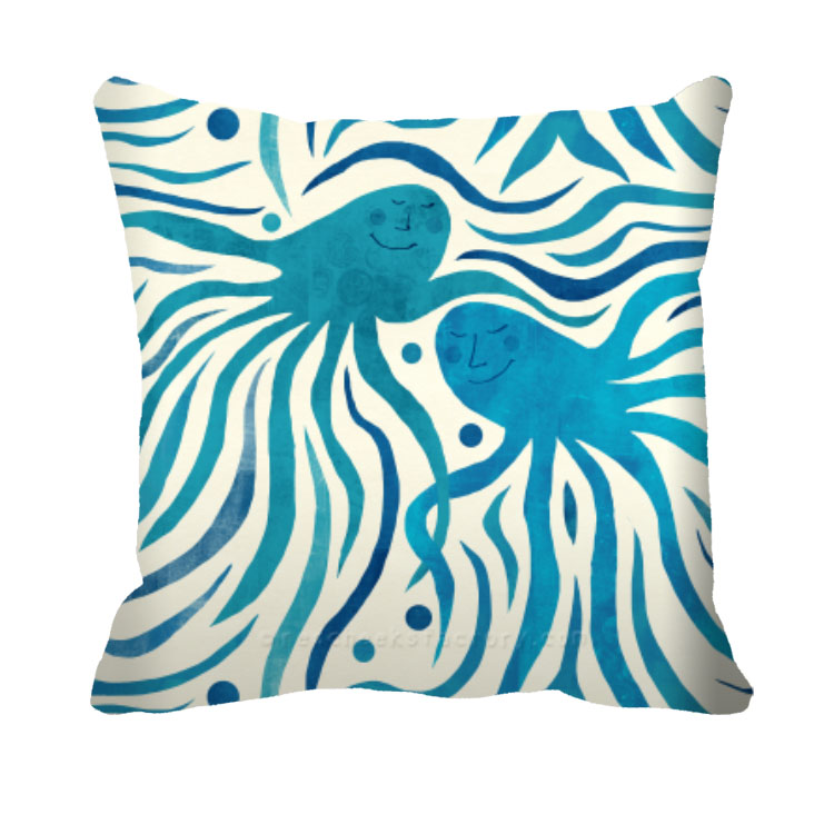 Octo Party Pattern Pillow 2 Red Cheeks Factory