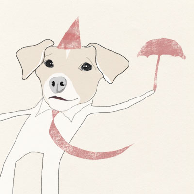Illustration of Morran, the dog of Illustrator Camilla Engman for the Morran book project