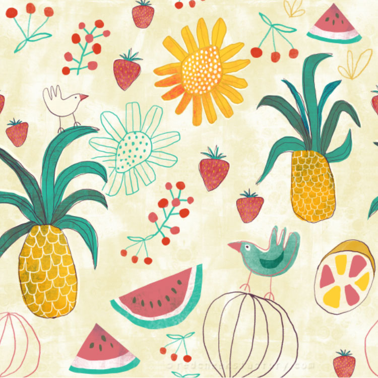 Tropical Party Pattern - Red Cheeks Factory