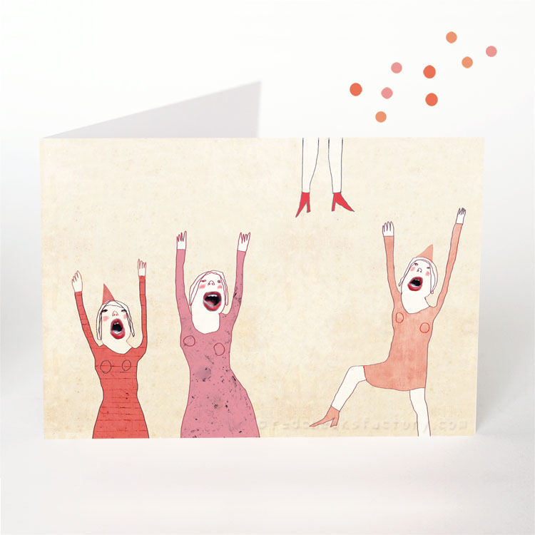 Hooray party postcard by Nelleke verhoeff