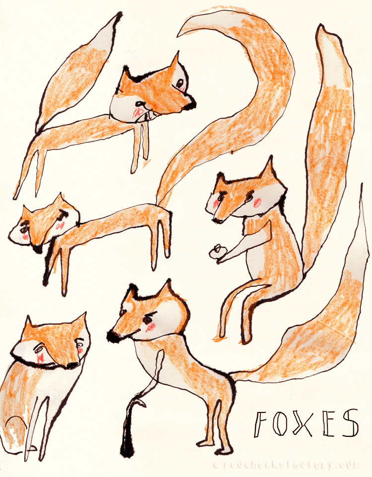 Fox studies from my sketchbook