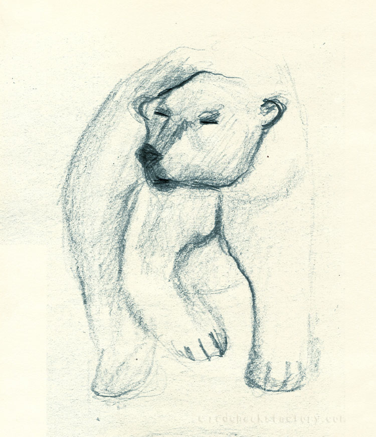 Polar Bear study from mu sketchbook