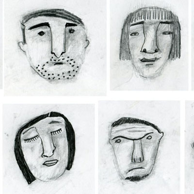 Face gallery -  drawings from my sketchbook