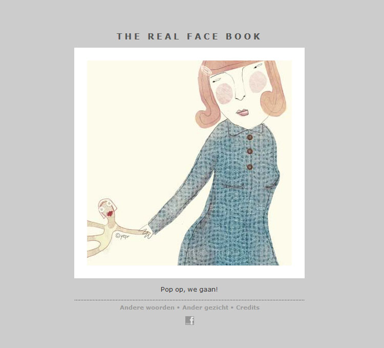 THE REAL FACE BOOK 6 Illustration from my face a day project